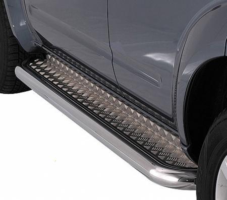 Nissan Pathfinder 2005-2009г.в.-Пороги с листом d-43